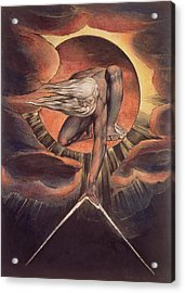 Frontispiece From 'europe. A Prophecy' Acrylic Print by William Blake