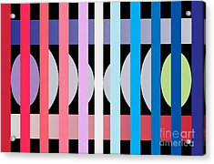 Fun Geometric  Acrylic Print by Mark Ashkenazi