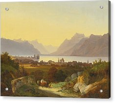 Geneva Lake View From Vevey Acrylic Print by Celestial Images