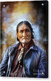 Geronimo Acrylic Print by Andrzej Szczerski