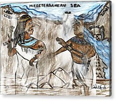 Ghosts Of Ancient Egypt Acrylic Print by Cibeles Gonzalez