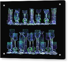 Glasses  - 111 Acrylic Print by Irmgard Schoendorf Welch