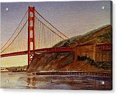 Golden Gate Bridge San Francisco California Acrylic Print by Irina Sztukowski