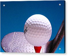 Golf Acrylic Print by David and Carol Kelly