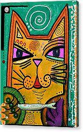 House Of Cats Series - Fish Acrylic Print by Moon Stumpp