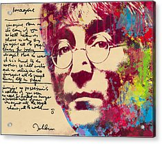 -imagine-john Lennon Acrylic Print by Vitaliy Shcherbak