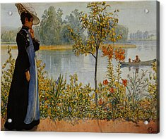 Indian Summer Acrylic Print by Carl Larsson