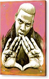 Jay-z Art Sketch Poster Acrylic Print by Kim Wang