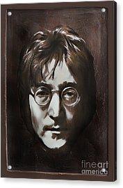 John Lennon Acrylic Print by Andrzej Szczerski