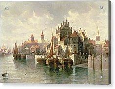 Kieler Canal Acrylic Print by August Siegen