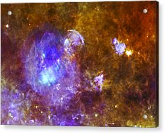 Life And Death In A Star-forming Cloud Acrylic Print by Adam Romanowicz