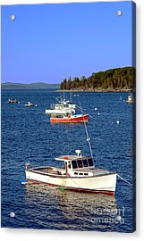 Maine Lobster Boat Acrylic Print by Olivier Le Queinec