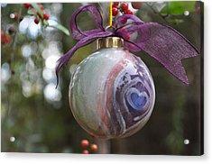 Majolica Maiolica Ornament Acrylic Print by Amanda  Sanford