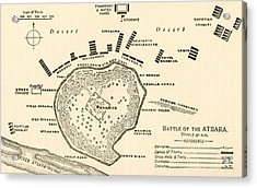 Map Showing The Battle Of Atbara During The Second Sudan War Acrylic Print by English School