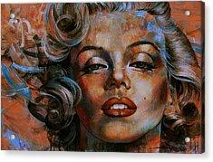 Marilyn Monroe Acrylic Print by Arthur Braginsky