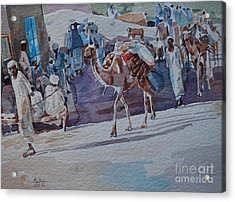 Market Acrylic Print by Mohamed Fadul