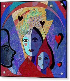 834 -  Mighty Mother  Acrylic Print by Irmgard Schoendorf Welch