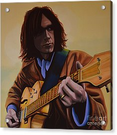 Neil Young Painting Acrylic Print by Paul Meijering