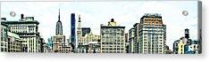New York City Acrylic Print by Ken Marsh