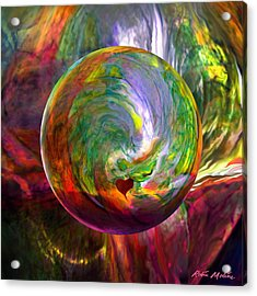 Orbing A Sea Of Love Acrylic Print by Robin Moline