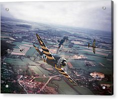 P47- D-day Train Busters Acrylic Print by Pat Speirs