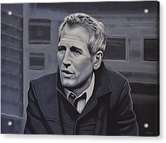 Paul Newman Acrylic Print by Paul Meijering