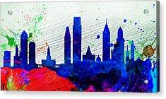 Philadelphia City Skyline Acrylic Print by Naxart Studio