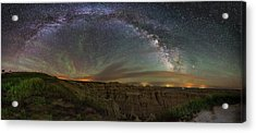 Pinnacles Overlook At Night Acrylic Print by Aaron J Groen