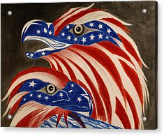 Proud Of Eagle Acrylic Print by Jalal Gilani