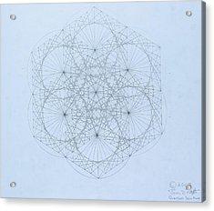 Quantum Snowflake Acrylic Print by Jason Padgett