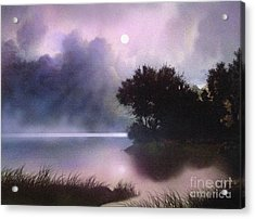 Rain Lake Acrylic Print by Robert Foster