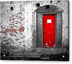Red Door Perception Acrylic Print by Bob Orsillo