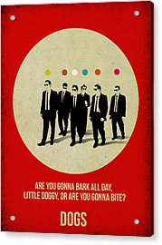 Reservoir Dogs Poster Acrylic Print by Naxart Studio