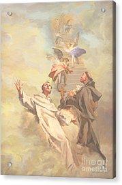 Saint Benedict And Saint Francis Of Assisi Acrylic Print by John Alan  Warford