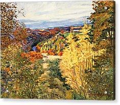 September In Bordeaux Acrylic Print by David Lloyd Glover