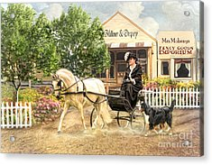 Shopping Day Acrylic Print by Trudi Simmonds