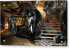 Stairway To Heaven Vs. Stairwell To Hell Acrylic Print by George Grie