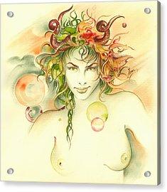 The Capricorn Acrylic Print by Anna Ewa Miarczynska