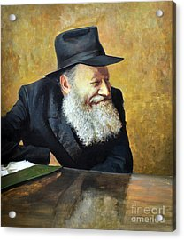 The Lubavitcher Rebbe Smiling Acrylic Print by Eugene Maksim