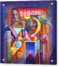The Pythagoras Door Acrylic Print by J W Kelly