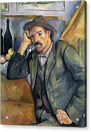 The Smoker Acrylic Print by Paul Cezanne