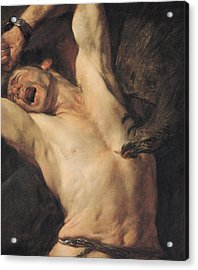 The Torture Of Prometheus Acrylic Print by Giovacchino Assereto