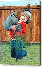 The Young Arborist Acrylic Print by William Goldsmith
