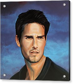 Tom Cruise Acrylic Print by Paul Meijering