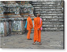Two Monks Acrylic Print by Michelle Meenawong
