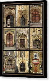 Uk Doors Acrylic Print by Christo Christov