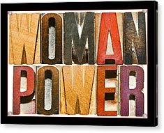 Woman Power Acrylic Print by Donald  Erickson