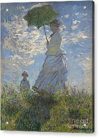 Woman With A Parasol Madame Monet And Her Son Acrylic Print by Claude Monet