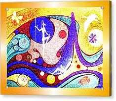 Yellow  Dreamworld Acrylic Print by Hartmut Jager
