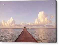 Zen Retreat. Brand New World Acrylic Print by Jenny Rainbow